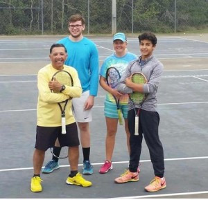 Coaches vs students in doubles