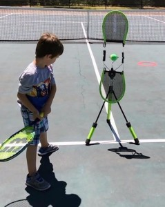 6 year old working on his forehand